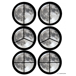 """Moon"" Fraction Circles for Autism"