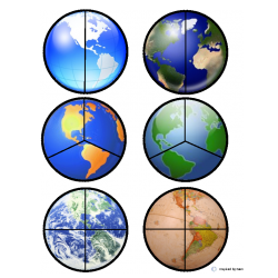 Planet Earth Fraction Circles/Cut & Paste for Autism