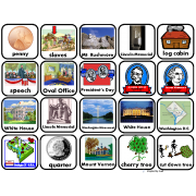 President's Day Vocabulary Picture Squares for Autism