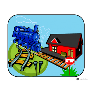 Rebus Story about a Train for Autism