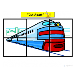 Trains Simple Cut & Paste Puzzles for Autism
