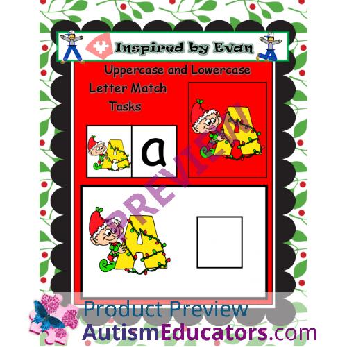 Christmas Alphabet.Christmas Alphabet Tasks For Autism