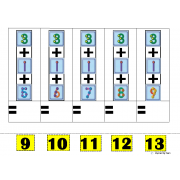 Addition of 3 Numbers with Touch Points for Autism
