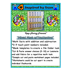 Mixed Addition and Subtraction with Touchpoints for Autism