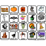 Halloween Words for Autism