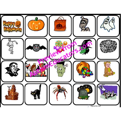 Halloween Words for Autism