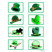 """St. Patrick's Day Match"" Color to Black & White"
