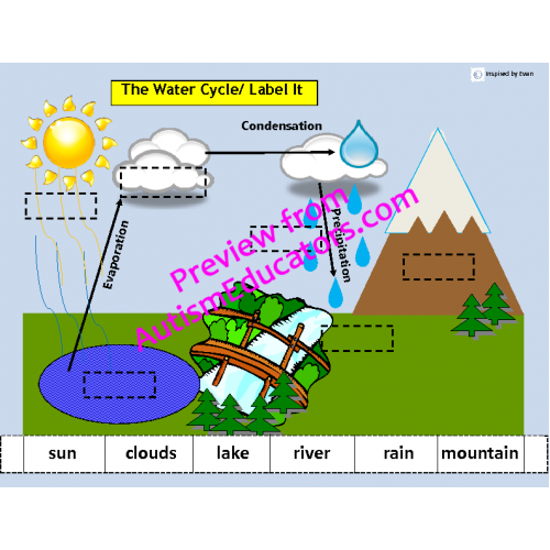 The water cycle match sort sequence ccuart Choice Image