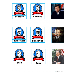 U.S. Presidents Picture & Label Matching