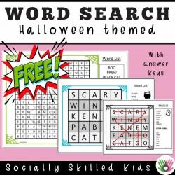 Halloween Themed Word Search | Freebie