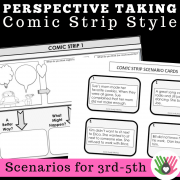 Perspective Taking and Problem Solving Comic Strip Activity {3rd-5th Grade or Ability Black & White Version}