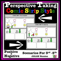 Perspective Taking and Problem Solving, Comic Strip Activity {3rd-5th Grade or Ability, Color Version}