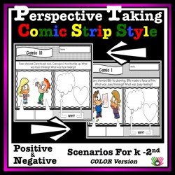 Perspective Taking Comic Strip Activity {k-2nd Color Version}