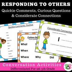 Responding To Others CONVERSATION SKILLS