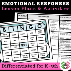 Emotional Responses BINGO! || Games and Lesson Plans