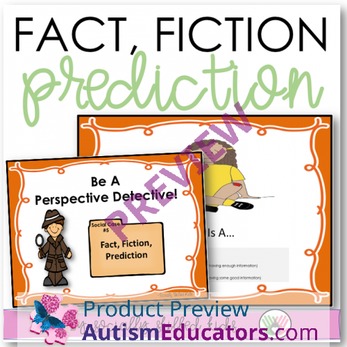 Is Autism Failure Of Prediction >> Perspective Taking Activities Making Social Predictions