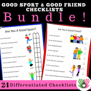 Good Friend & Good Sport Checklists BUNDLE || 24 Differentiated Checklists
