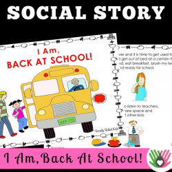 I Am Back At School! || SOCIAL STORY SKILL BUILDER