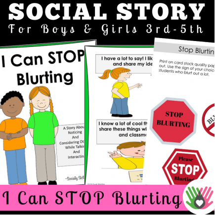 I Can STOP Blurting || SOCIAL STORY || For Boys and Girls 3rd-5th