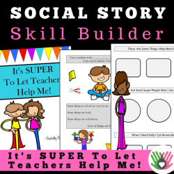 It's SUPER To Let Teacher's Help Me! || Social Story Skill Builder