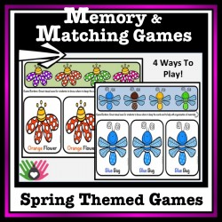 Memory and Matching Games {Spring Themed}