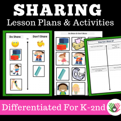 Sharing {Social Skills Lesson Plans and Interactive Activities For K-2nd Grade}