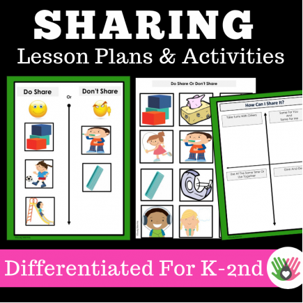 Sharing || Social Skills Lesson Plans and Interactive Activities || For K-2nd Grade}