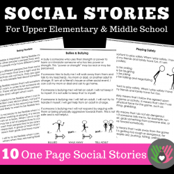 Social Scenes, Social Stories For Older Kids