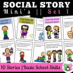 SOCIAL STORY MINI'S || 10 Social Stories For Basic School Skills