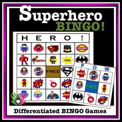 Superhero BINGO! {Differentiated BINGO Games}
