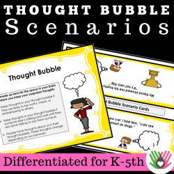 Perspective Taking Activities: Thought Bubble Scenarios