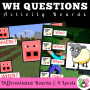 "Asking ""Wh"" Questions Activity Boards: Set 1"