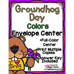 Groundhog Day Colors Envelope Center