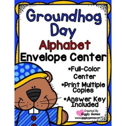 Groundhog Day Alphabet Uppercase to Lowercase Envelope Center