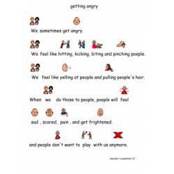 getting angry - social story and an activity book