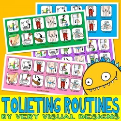 HOW TO USE THE TOILET BOY & GIRL VISUAL ROUTINE SET autism potty bathroom pecs
