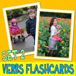 VERBS PHOTO FLASHCARDS SET 2 actions autism aba speech therapy pecs activity