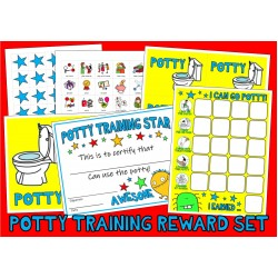 POTTY TRAINING SET : Reward Chart & PECs Picture Cards ... visual toilet aide autism special education aac asd pdd