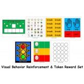 Visual Reinforcement Token & Behavior Traffic Light Set w PECS