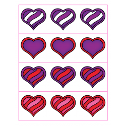 File Folder Preceding and Following Numbers 1-20 (Heart Theme)