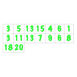 File Folder Preceding and Following Numbers 1-20 (Shamrock Theme)