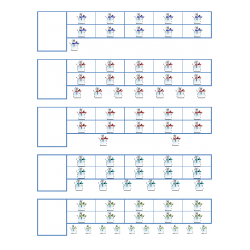 File Folder Number to Quantity 11-20 Ten Frames (Snowmen)