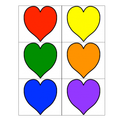 File Folder Color Words (Heart Theme)