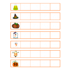 File Folder Activity Count Forward from 0-20 (Halloween Theme)
