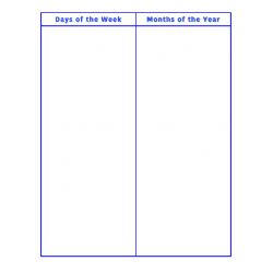 File Folder Activity Sequencing Days Months (Blue)
