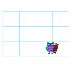 File Folder Activity Sequence to 100 by 10's (Light Blue, Winter Theme)
