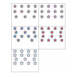 File Folder Activity Numeral to Quantity 11-20 (Patriotic Stars)