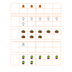 File Folder Activity Number to Quantity 1-10 Ten Frames (Halloween Theme)