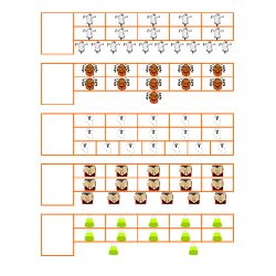 File Folder Activity Number to Quantity 11-20 Ten Frames (Halloween Theme)