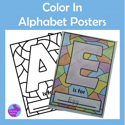 Back to School Color Your Own Alphabet Posters Activity